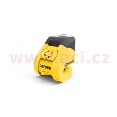 zámek kotoučové brzdy Scoot XD5, OXFORD (žlutý/černý, průměr čepu 6 mm)