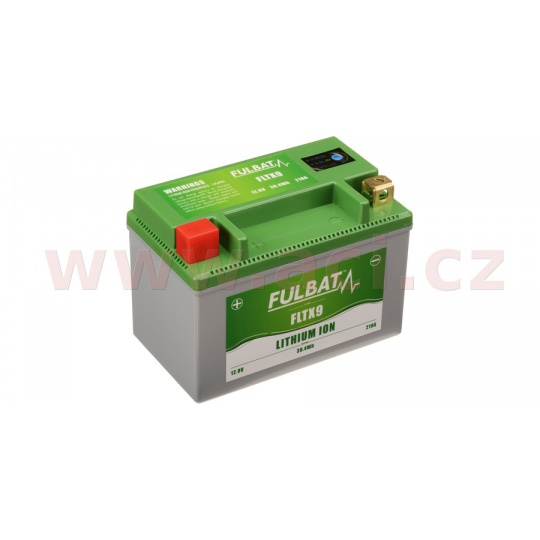 lithiová baterie  LiFePO4  FULBAT  12V, 3Ah, 210A, hmotnost 0,61 kg, 150x87x105 mm nahrazuje typy: (CBTX9-BS, CTR9-BS)