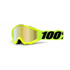ACCURI Youth Goggle Fluo Yellow - Mirror Red Lens