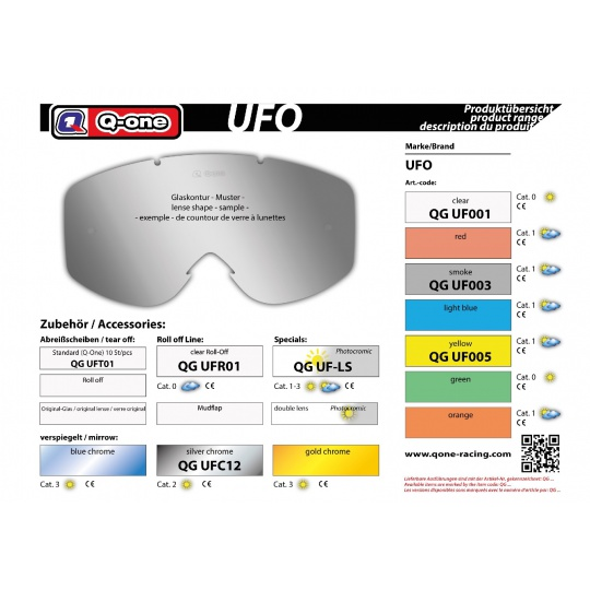 sklo UFO čiré