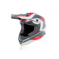 motokros přilba Acerbis Junior Steelčervená/šedá