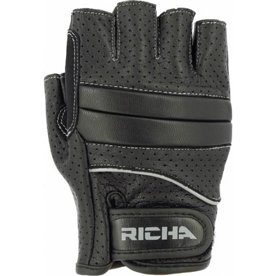 Moto rukavice RICHA MITAINE bezprstové černé