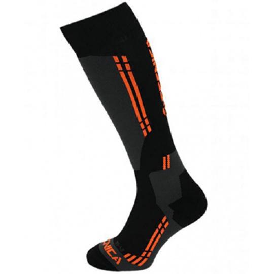 lyžařské ponožky TECNICA Competition ski socks, black/anthracite/orange