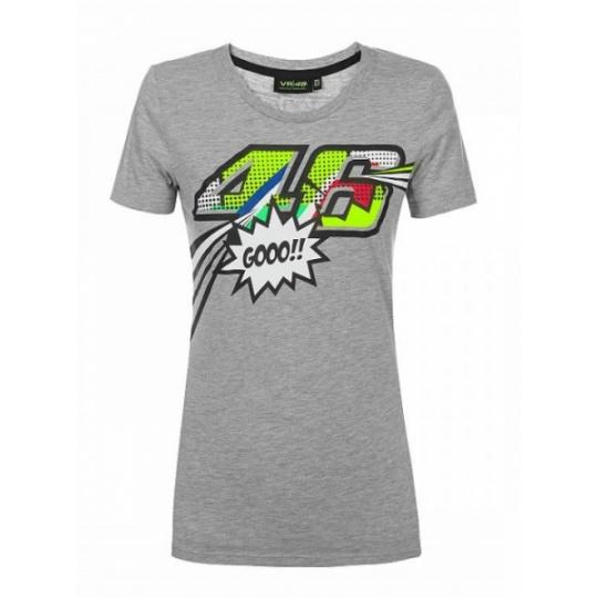 Dámské triko Valentino Rossi VR46 POP ART šedé 352205
