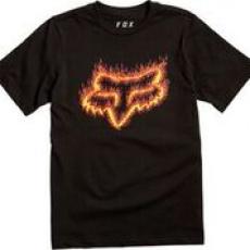 Dětské triko Fox Youth Flame Head Ss Tee Black