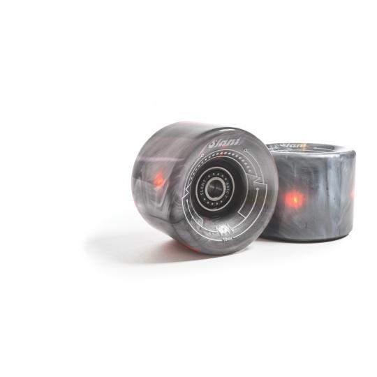 Náhradní kolečka Globe Slant Lit Wheel Clear Silver/Orange