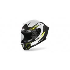 přilba GP 550S VENOM, AIROH - Itálie (bílá/černá/fluo)