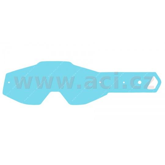 strhávací slídy plexi pro brýle 100% řady RACECRAFT/ACCURI/STRATA dospělé, Q-TECH (10 vrstev v balení, čiré)