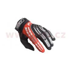 rukavice PIONEER, PILOT (černá/červená)