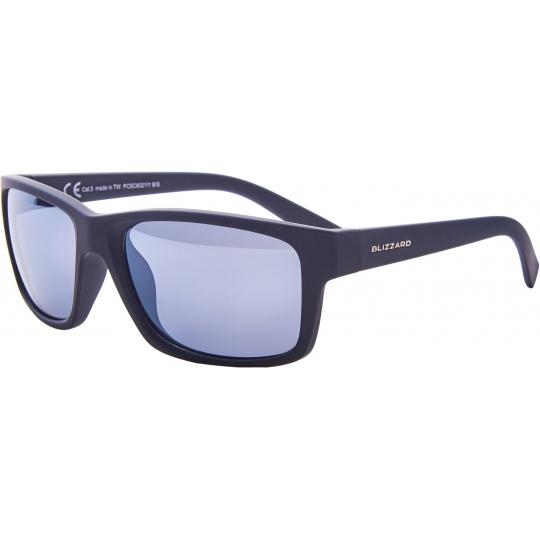 sluneční brýle BLIZZARD sun glasses PCSC602111, rubber black, 67-17-135