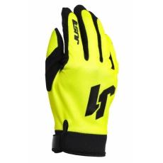 Dětské moto rukavice JUST1 J-FLEX neonově žluté