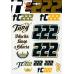 Samolepky Tony Cairoli TC222 - formát A4