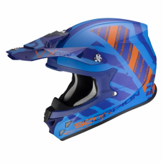 Moto přilba SCORPION VX-21 AIR URBA matná modro/oranžová