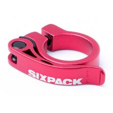 Sedlová objímka Sixpack Menace 31,8 mm červená