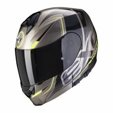Moto přilba SCORPION EXO-3000 AIR CREED titanovo/černo/neonově žlutá