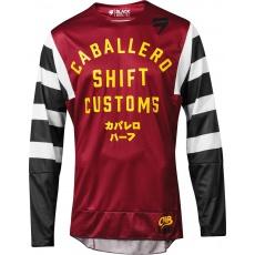 Pánský MX dres SHIFT 3Lack Caballero X Lab Jersey Red