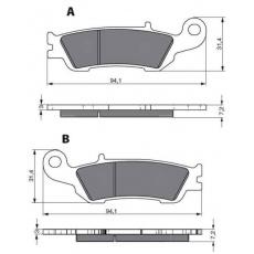 brzdové desky DP jako GF 248