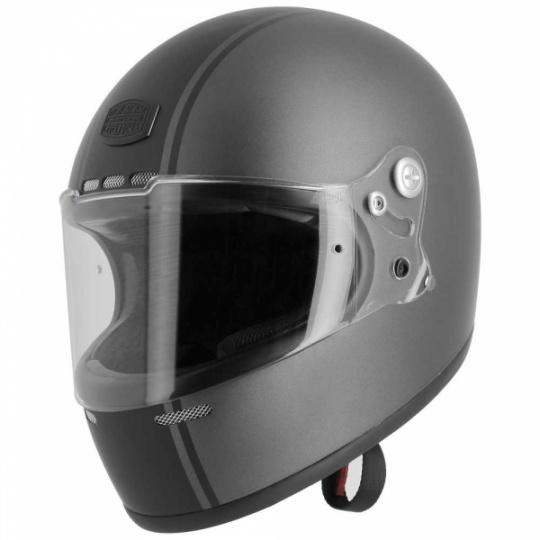 Moto přilba ASTONE GT RETRO STRIPES matná šedo/černá