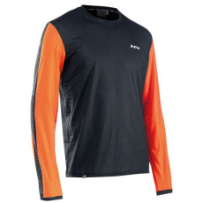 Pánský cyklo dres Northwave Xtrail Jersey LS Black/Orange