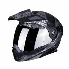 Moto přilba SCORPION ADX-1 BATTLEFLAGE matná černo/stříbrná