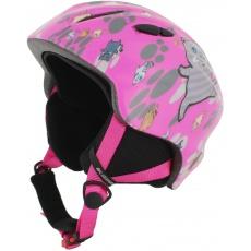 helma BLIZZARD Magnum ski helmet junior, pink cat shiny