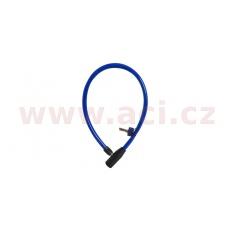 zámek HOOP4, OXFORD (délka 600 mm, průměr lanka 12 mm, modrý)