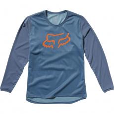 Dětský cyklo dres Fox Yth Ranger Ls Jersey Blue Steel