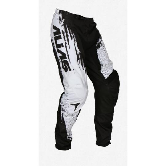 Dětské motokrosové kalhoty ALIAS MX A2 BRUSHED černo/bílé 2436-304