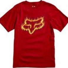 Dětské triko Fox Youth Flame Head Ss Tee Cardinal
