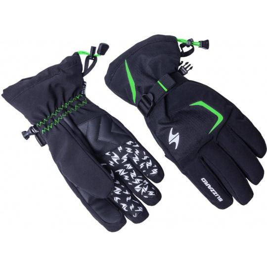 lyžařské rukavice BLIZZARD Reflex, black/green