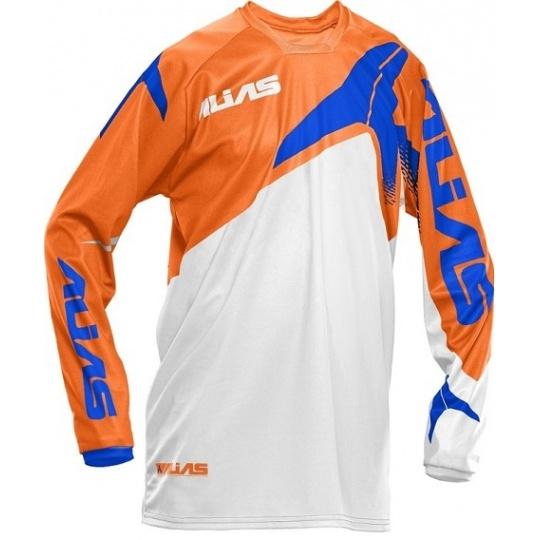 Motokrosový dres ALIAS MX B1 neonově oranžovo/modrý