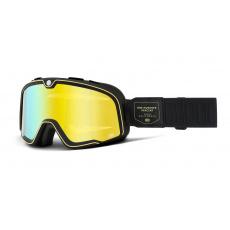 BARSTOW 100% - USA , brýle Caliber - zrcadlové žluté plexi