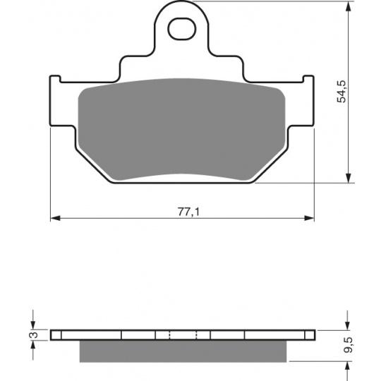 brzdové desky GOLDFREN 046 K5