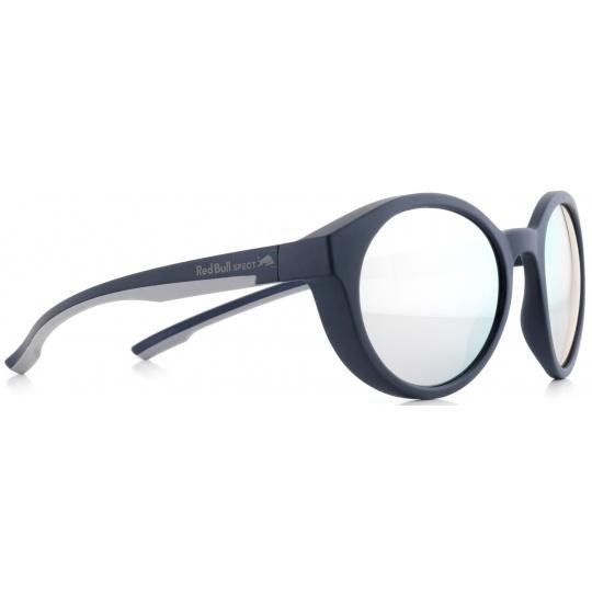 sluneční brýle RED BULL SPECT Sun glasses, SNAP-003P, dark blue, grey, smoke with silver mirror POL, 52-21-145