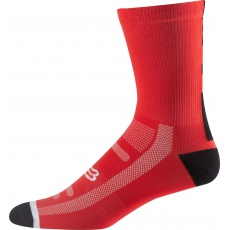 Cyklo ponožky Fox 8 Logo Trail Sock Red