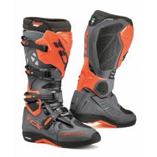 Moto boty TCX COMP EVO MICHELIN® tmavě šedo/oranžové fluo