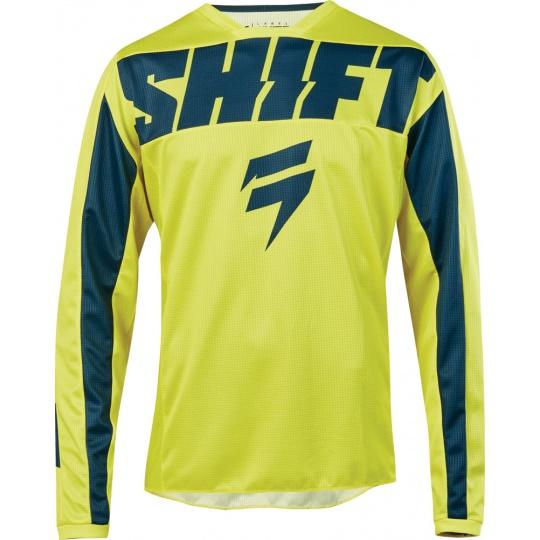 Pánský MX dres SHIFT Whit3 York Jersey Yellow Navy