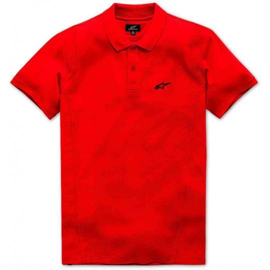 triko s límečkem CAPTIAL POLO krátký rukáv, ALPINESTARS -  červené
