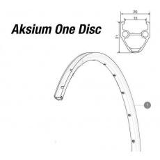 MAVIC KIT FRT/REAR RIM AKSIUM ONE DISC/AKSIUM DISC (LV2290800)