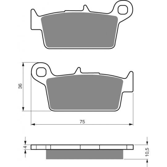 brzdové desky GOLDFREN 003 K1