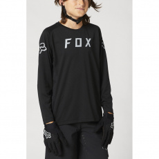 Dětský dres Fox Yth Defend Ls Jersey Black