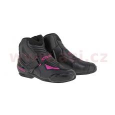 boty STELLA SMX-1 R, ALPINESTARS, dámské (černé/fialové)