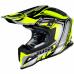 Moto přilba JUST1 J12 FLAME žluto/černá
