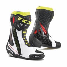 Moto boty TCX RT-RACE bílo/červeno/žluté fluo