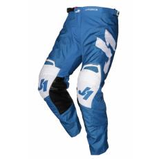 Moto kalhoty JUST1 J-FORCE TERRA modro/bílé