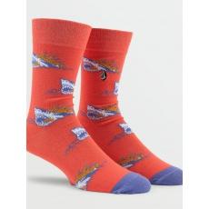 Pánské ponožky Volcom True Socks Scream Red