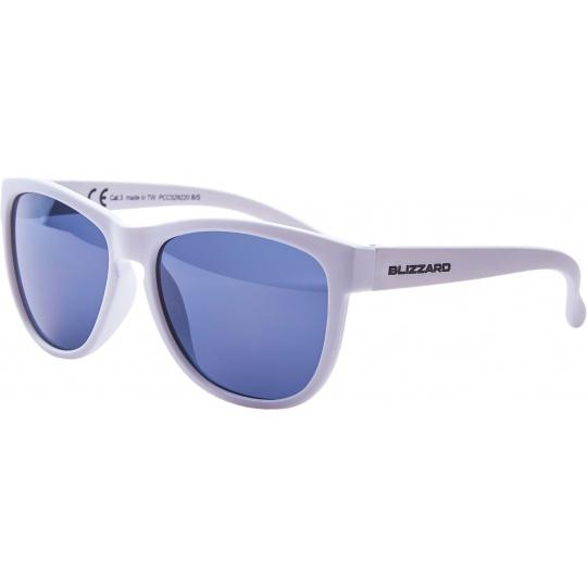 sluneční brýle BLIZZARD sun glasses PCC529220, white matt, 55-13-118
