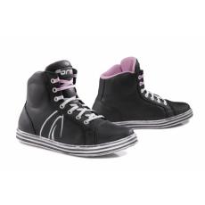 Dámské moto boty FORMA SLAM DRY WP černo/bílé