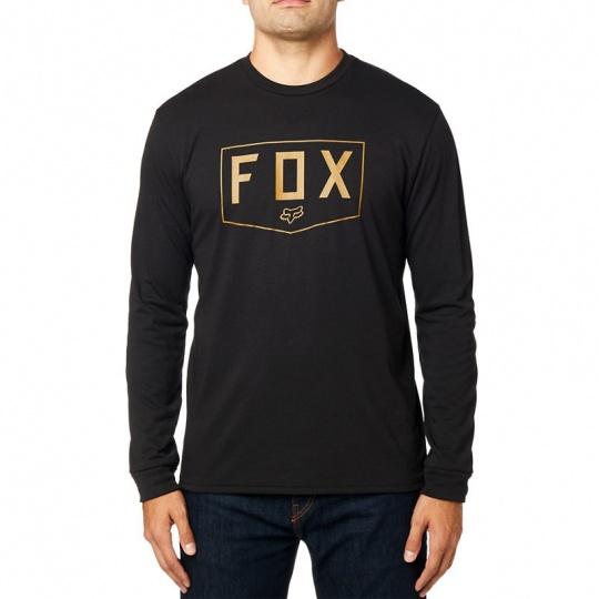 Pánské triko Fox Shield Ls Tech Tee Black
