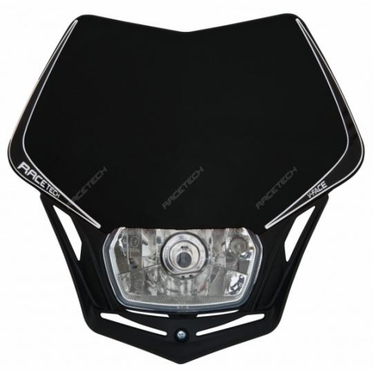 Maska na moto RTECH V-FACE černá